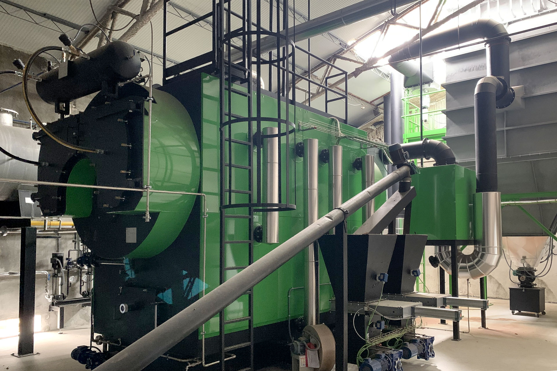 Caldera de biomasa